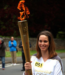 Ashley Petrons with Olympic Torch
