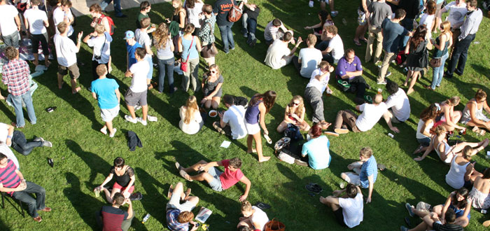 Students at Penryn Campus
