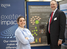 Poster display winner Ines Castro with Professor Nick Talbot