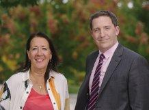 Professor Janice Kay and Phillip Paige (photo: Jim Wileman)