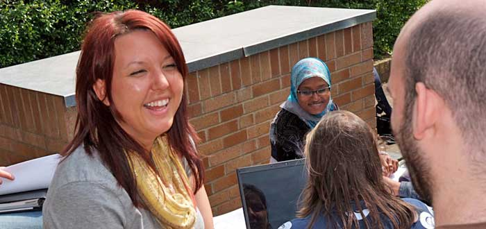 Students on Streatham Campus