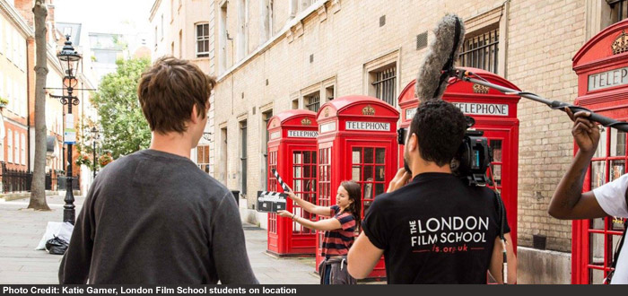 Photo Credit: Katie Garner, London Film School students on location