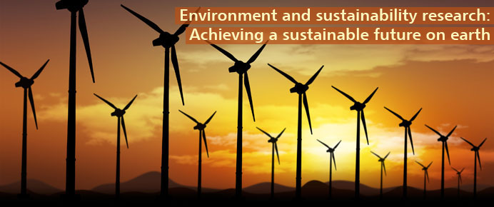 Environmnet adn sustainability research: Achieving a sustainable future on earth