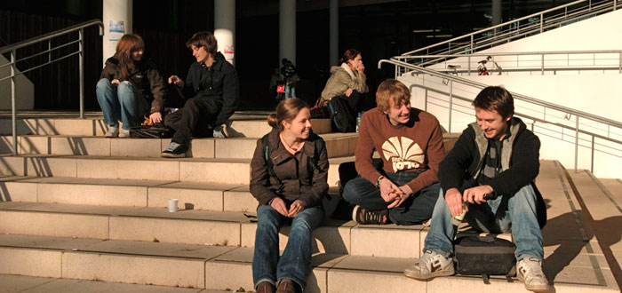 Students in Penryn Campus