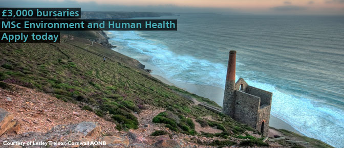 MSc Environment and Human Health £3,000 bursaries