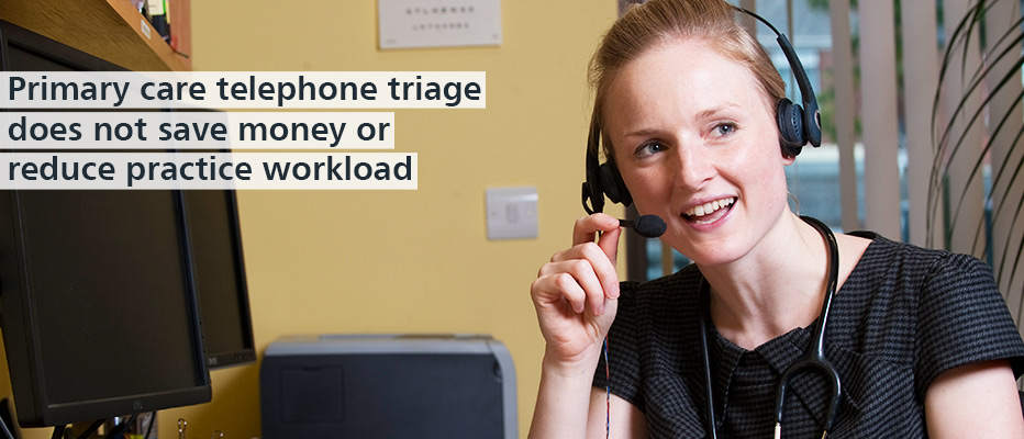 Find out more about the telephone triage service