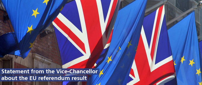 Read the Vice-Chancellor's statement on the EU referendum result