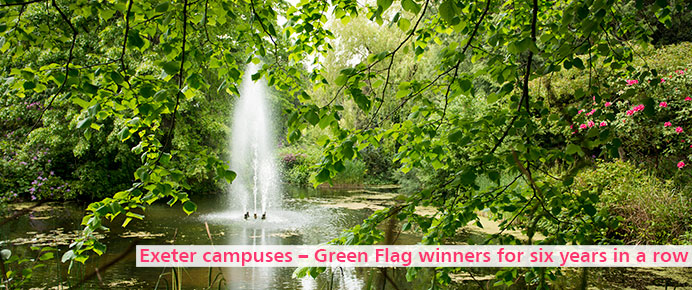 Exeter campuses - Green Flag winners for six years in a row