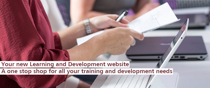 Take a look at the new learning and development website