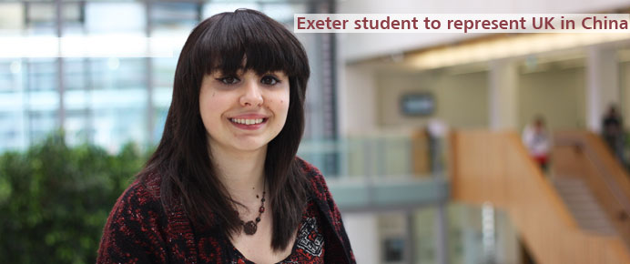 British Council selects Exeter student to represent UK education in China