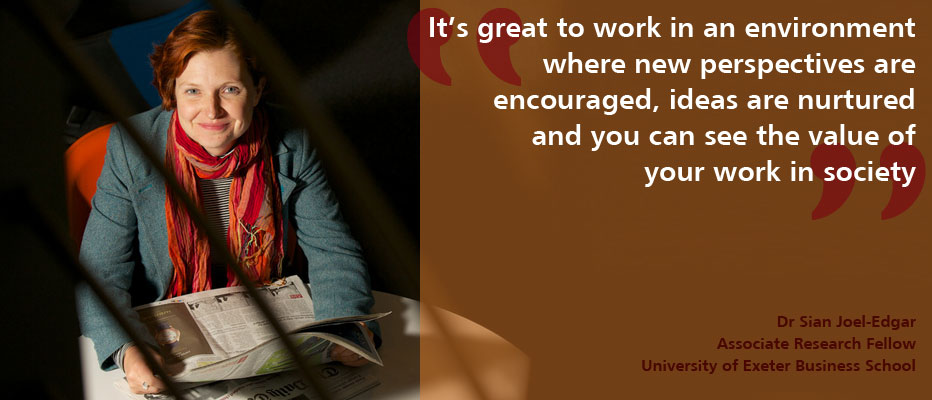 Find out more about what it's like to work at the University of Exeter