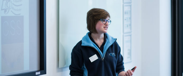 Undergraduate and Postgraduate Student Ambassadors deliver talks and presentations at Open Days and Offer-Holder Visit Days on campus.