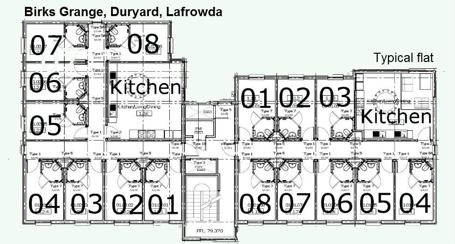 Floorplan for Birks Grange, Duryard and Lafrowda