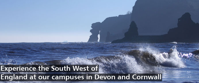 Experience the South West of England at our campuses in Devon and Cornwall