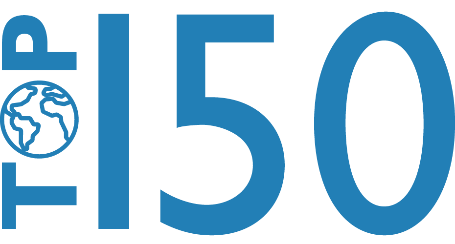 Top 150 in the THE and QS<sup>2</sup> world rankings