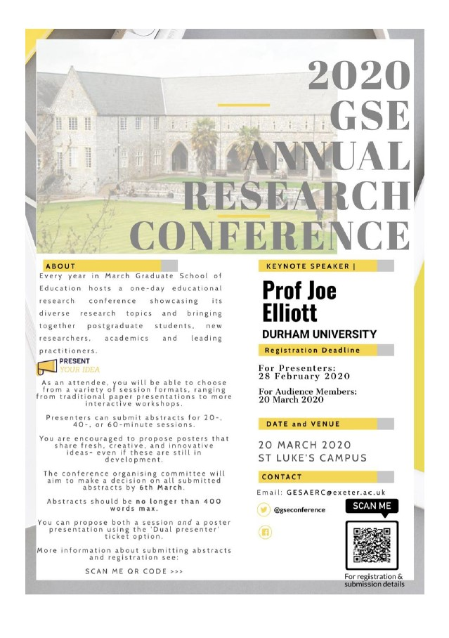 GSE research conference poster 2020